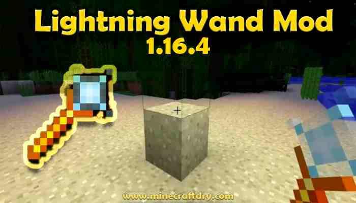 Lightning Wand Mod Para Minecraft