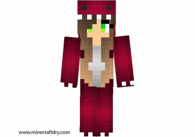skin chica raptor para minecraft