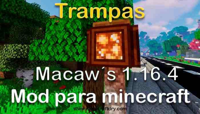 Macaw´s Trapdoors para minecraft 1.16.4