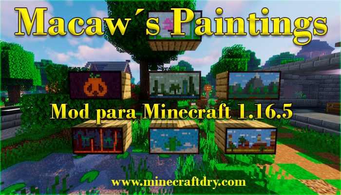 cuadros para Minecraft 1.16.5 de decoración