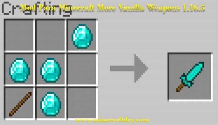descargar mod para minecraft 1.16.5 more vanilla weapons