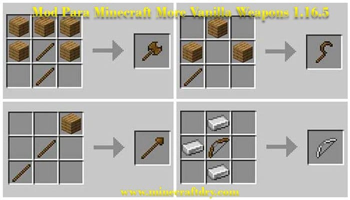 Mod para minecraft more vanilla weapons 1.16.5