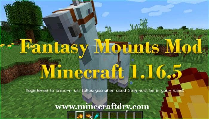 fantasy mounts mod minecraft 1.16.5
