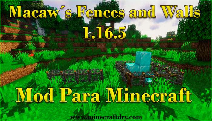 Macaws fences and walls mod minecraft