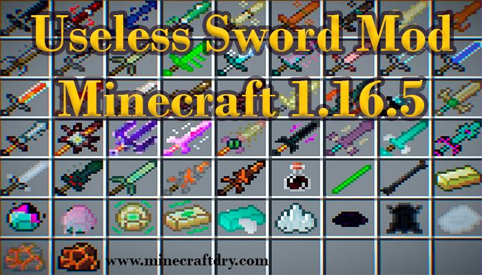 useless sword mod minecraft 1.16.5