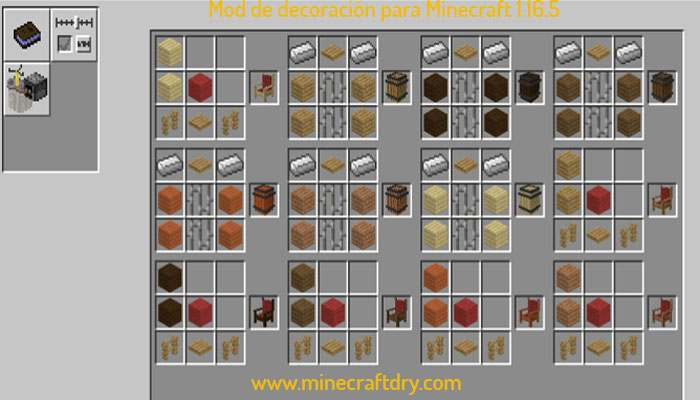 receta de mod medieval decoration 1.16.5 y 1.16.4