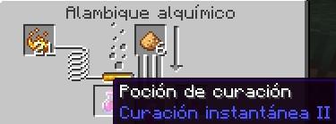 poción curación instantánea para minecraft