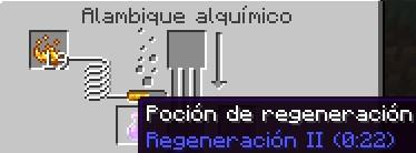 poción de regeneración nivel 2 para minecraft