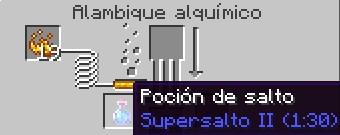 poción de salto nivel 2 para minecraft