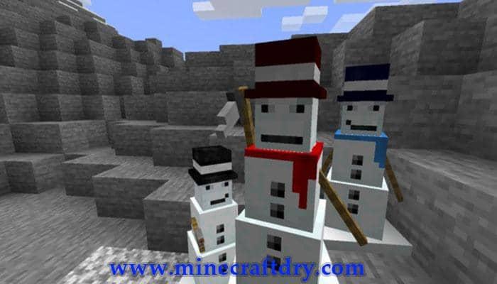 horda de muñecos de nieve minecraft 1.17.1
